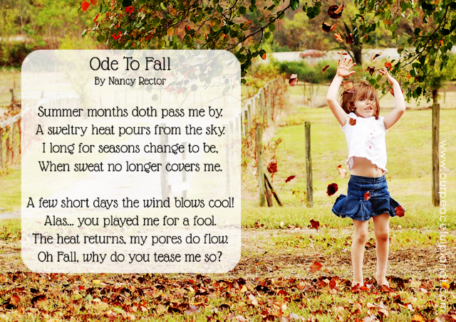 Ever feel like the seasons are jerking you around? This little poem expresses frustration at that.