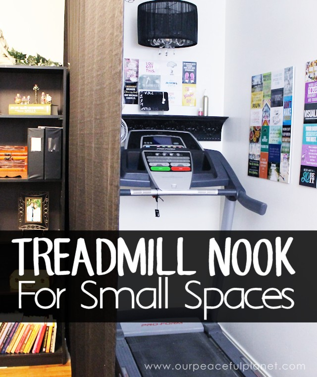 Is your home or apartment too small to accommodate a treadmill or exercise area? This article will have you rethinking that! You'll be amazed at where this treadmill was placed and how the area was turned into a little motivational oasis!