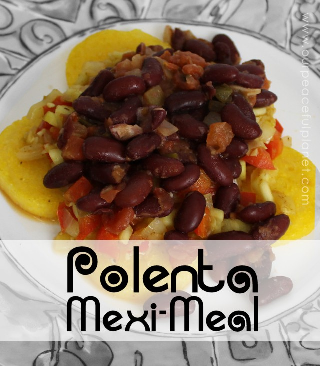 This delicious and spicy Mexican recipe is just one of many ways you can use polenta which is basically boiled cornmeal. You can buy it ready made!