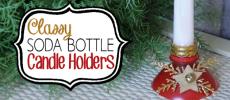 Soda Bottle Candle Holders