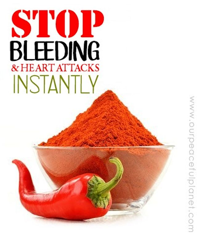 Stop Bleeding and Heart Attacks Instantly With Cayenne