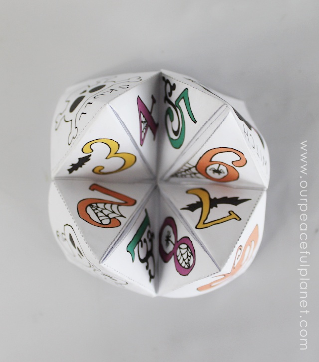 No Need To Spend A Fortune On These: Free Halloween Cootie Catcher Template