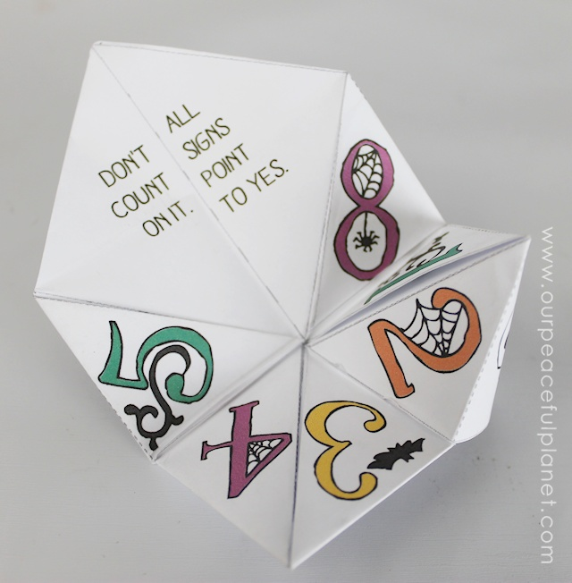 Free Halloween Cootie Catcher Template ·