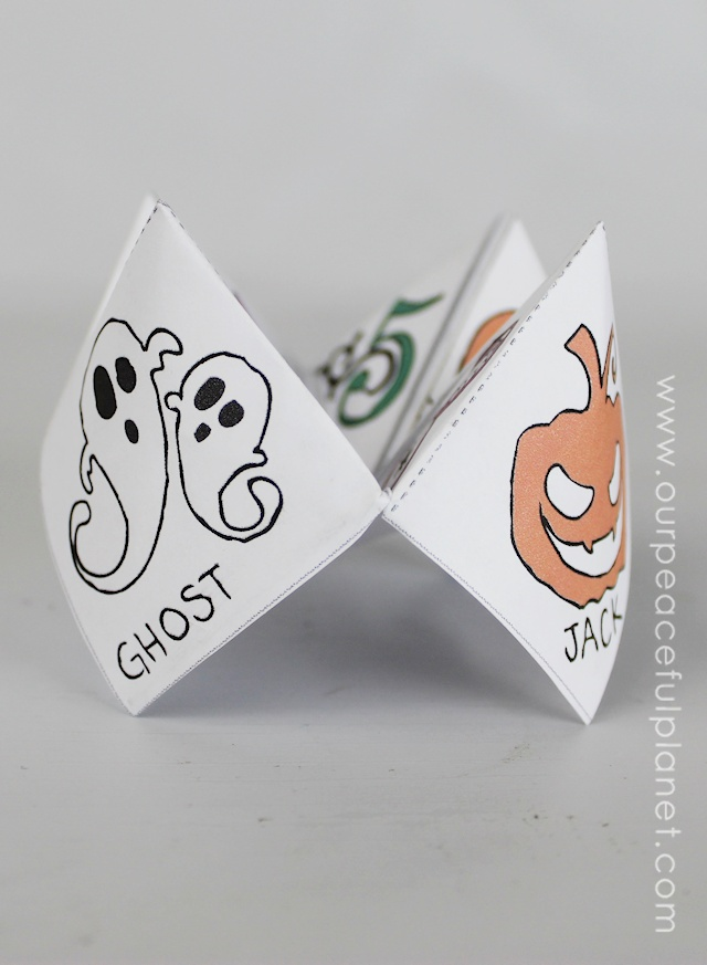 Free Halloween Cootie Catcher Template - Craft Your Happiness
