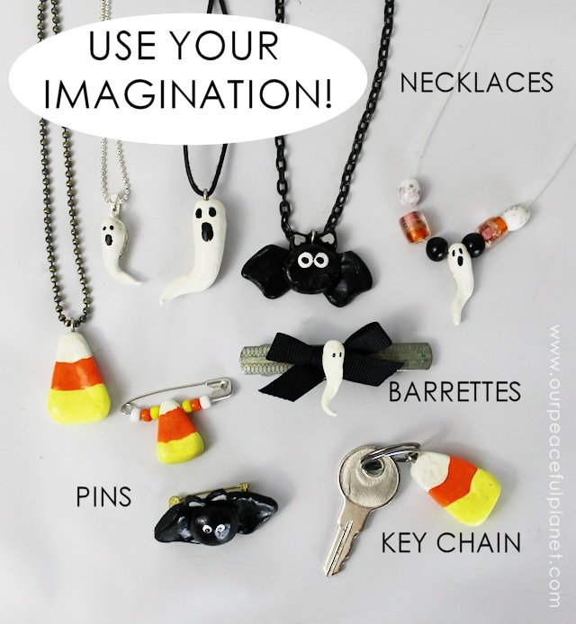 Simple Halloween Jewelry From Clay Craft Your Happiness