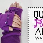 Quick Fleece Arm Warmers Tutorial & Pattern