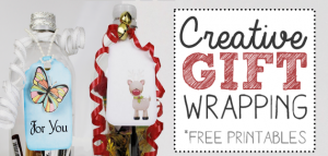 For unique, memorable gift wrapping ideas for small items, grab a plastic soda bottle, cut a slit in the back and stuff in your goodies! Add ribbon, tags etc.