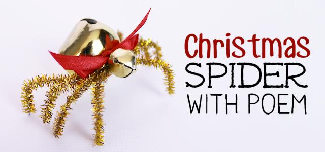 The Christmas Spider DIY : Free Poem Printable