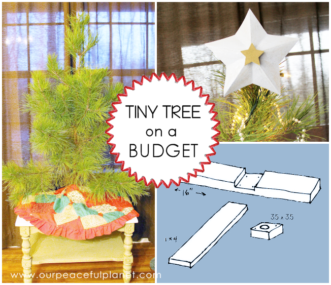 Make Christmas a little less expensive and simpler this year with our tiny tree. We have a pattern for a free stand and ideas for decorating it! Enjoy the holiday frugal style!