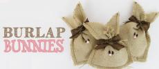 Burlap Bunnies DIY