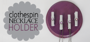 Clothespin Necklace Holder FE