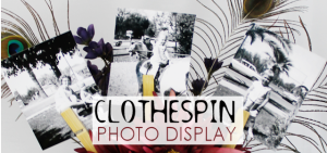 Clothespin Photo Display FE