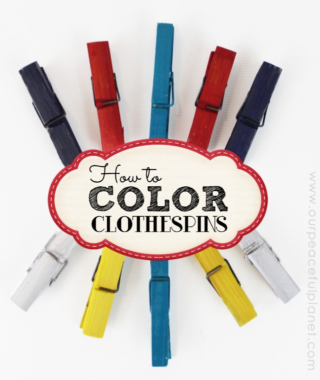 If you like using clothespins in your crafting here's a fast way to color a lot of them at once! We've got detailed instructions for you along with examples. Ü