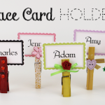 Place Card Holders (Free card download!)