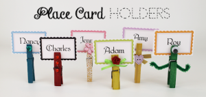 Place Card Holders from Clothespins FE