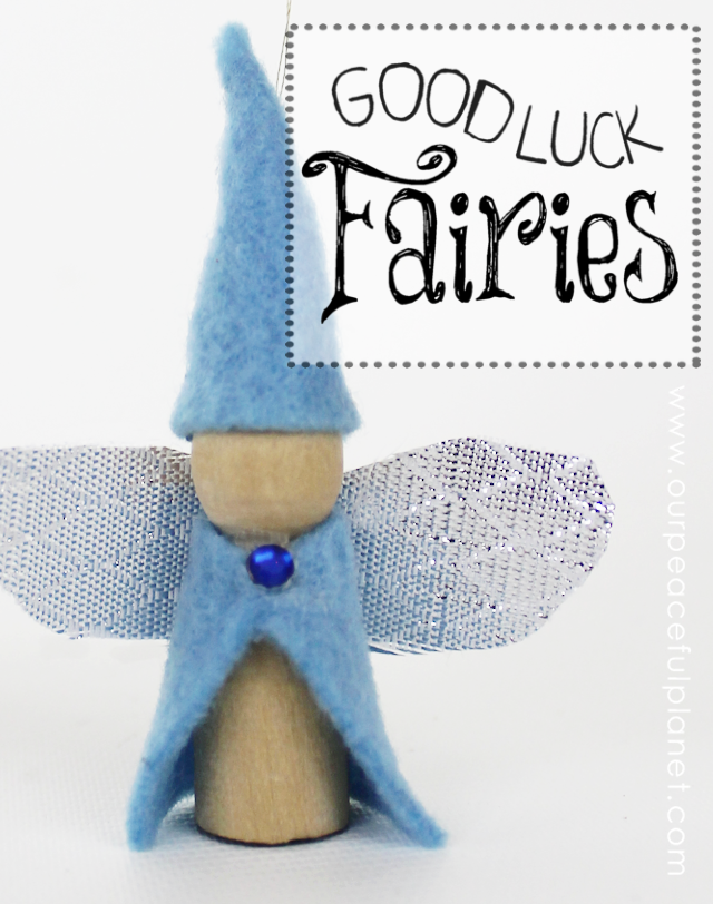 Bring good luck into your life with these cute little good luck fairies made from regular clothespins! You can hang them anywhere!