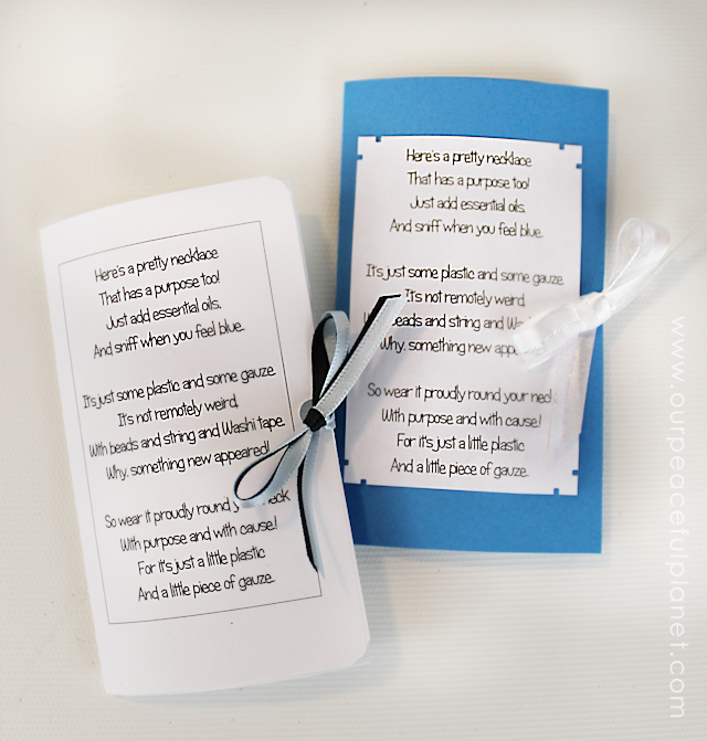 This Aromatherapy Inhaler is the bomb! So what if it's made from a tampon? It's the perfect item for this crazy clever upcycle project. And what a FUN GIFT! We even have the perfect POEM to go with it! Tampon crafts rock!