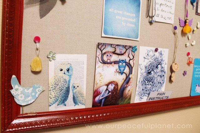 DIY Bulletin Board and Custom Thumbtacks 17