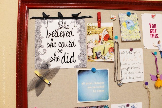 DIY Bulletin Board and Custom Thumbtacks 18