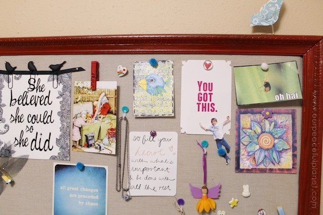 DIY Bulletin Board and Custom Thumbtacks 19