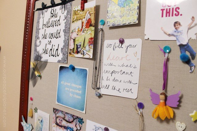 DIY Bulletin Board and Custom Thumbtacks 20
