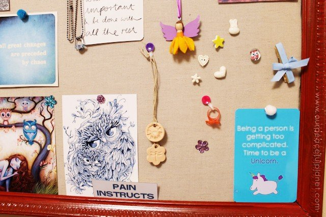 DIY Bulletin Board and Custom Thumbtacks 21