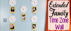 Extended Family Idea : Make a Time Zone Clock Wall