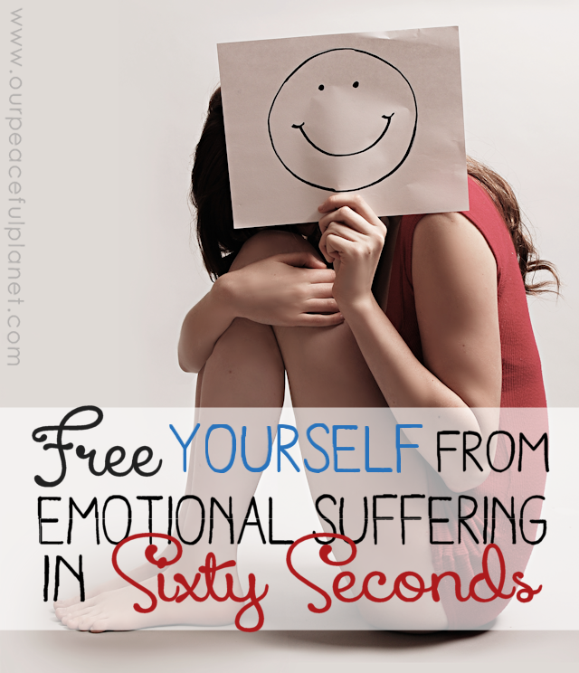 If you suffer from emotional pain, depression or anxiety due to experiences you have had in your past, this 60 second exercise might have miraculous results for you.  It can help heal depression, PTSD and more. Please give it a try!