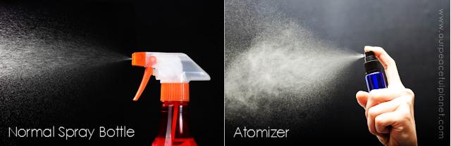 spray bottle versus atomizer