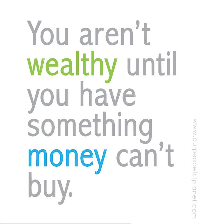 you arent wealthy-made by nancy rector