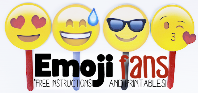 Free Emoji Fan Printables   Our Peaceful Planet