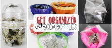 Get Organized with Plastic Bottles