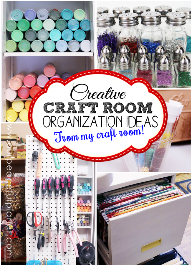 The most creative craft room organization ideas for Craft supplies organization ideas