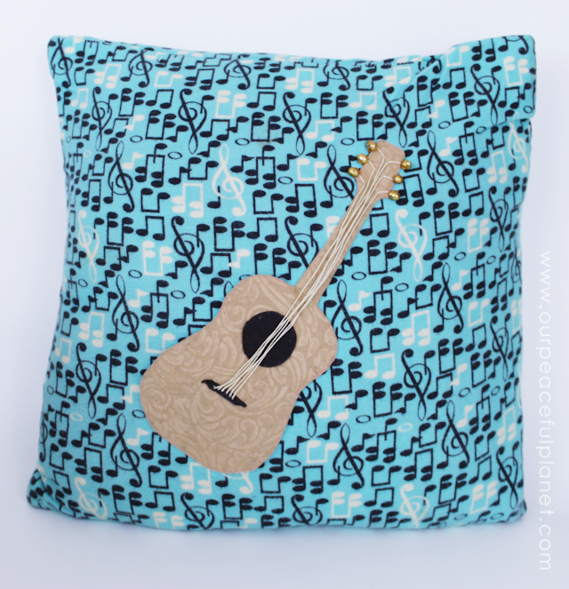 Easily create an inexpensive custom pillow cover in 10 minutes using fabric, felt and glue, that is both beautiful and unique using our free patterns.