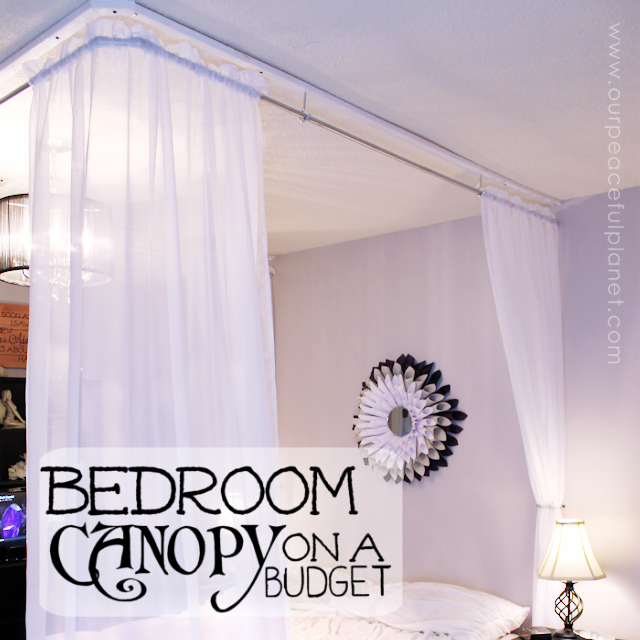 Added Sheers blank630x20 Turn your bedroom into a magical retreat with our simple and inexpensive DIY bed canopy. & Make an Inexpensive DIY Bed Canopy | Our Peaceful Planet