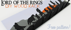 DIY Lord of the Rings Art Wood Rack