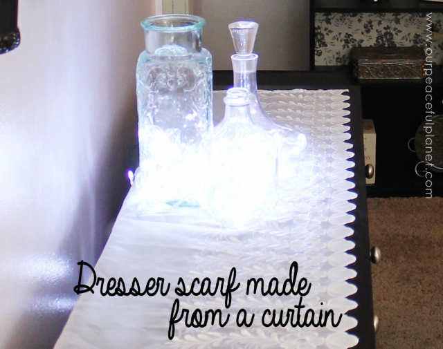 Frugal DIY Bedroom Decorating Ideas Dresser Scarf