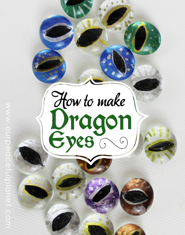 Make these gorgeous dragon eyes from flat clear filler marbles and use them for dragon jewelry or to carry around in a simple pouch. Best dragon craft ever!