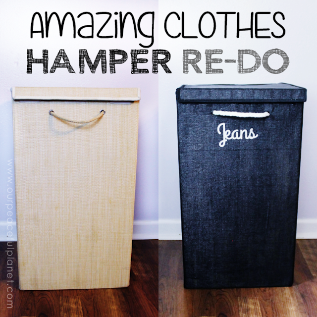 This Clothes Hamper Redo shows that there's not much you can't make look new again if you try. Paint alone can work wonders! Saved me $100 for a new set.