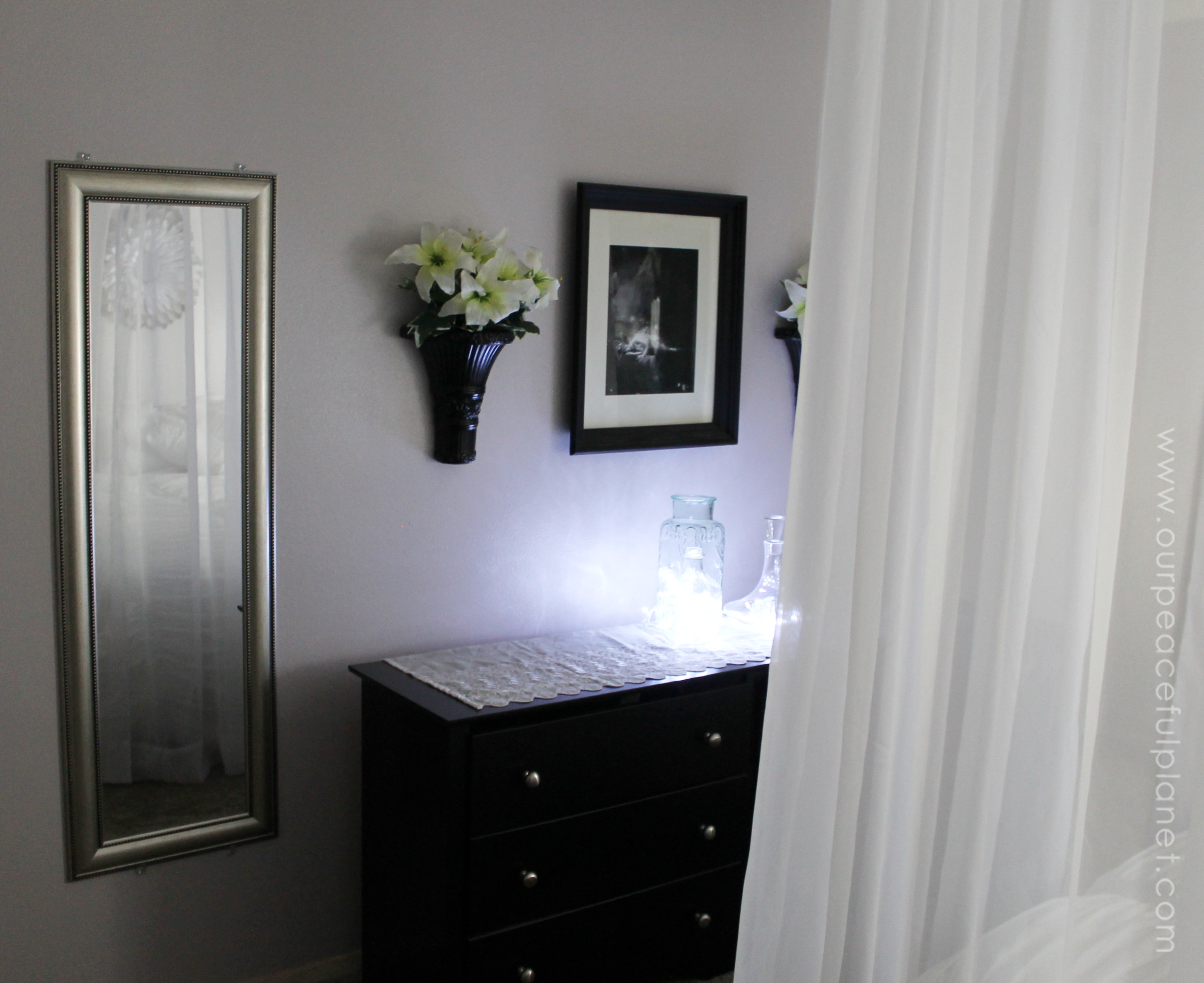 Get inspired with the final gorgeous reveal in our Budget Bedroom Makeover Series! We'll also tell you what the total cost was for us to redo the bedroom.