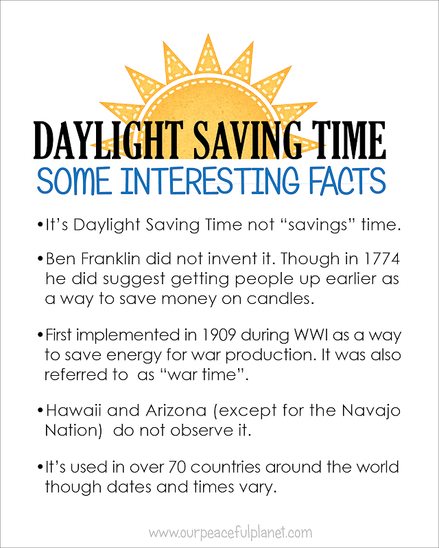 Daylight Savings Facts For Kids