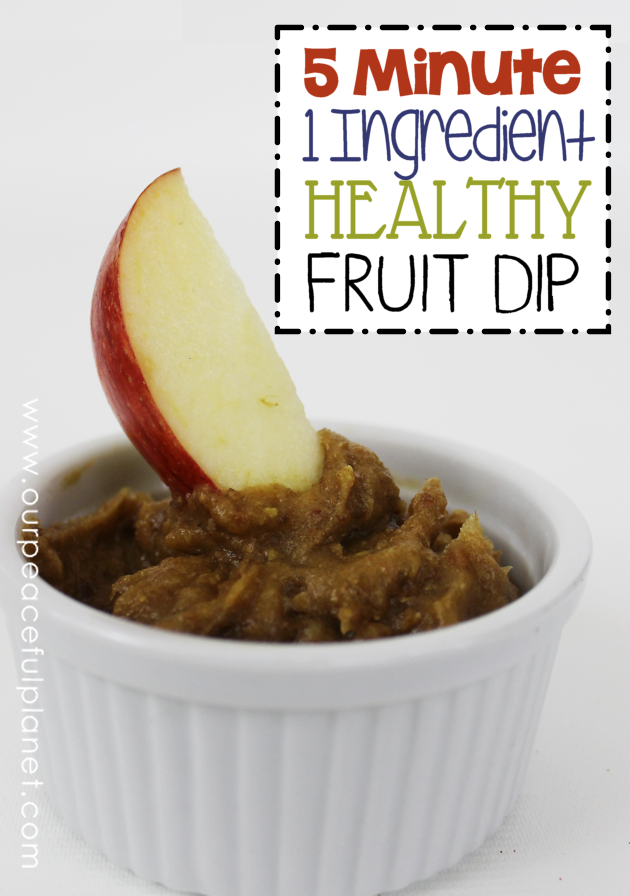 Here's a healthy fruit dip recipe that takes 5 minutes to make (after you soak the dates). Use it as is for dipping, make candy apples and much more!