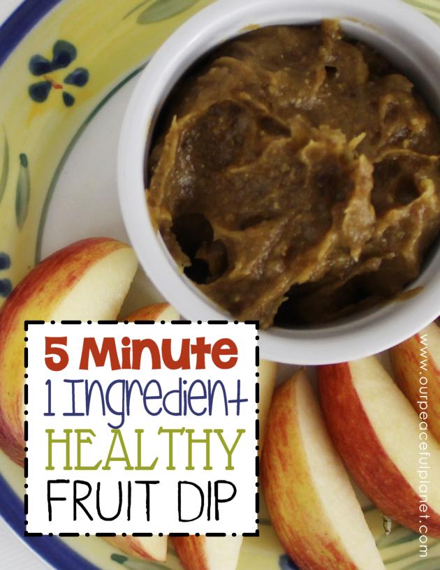 easy healthy fruit dip is blending fruit healthy