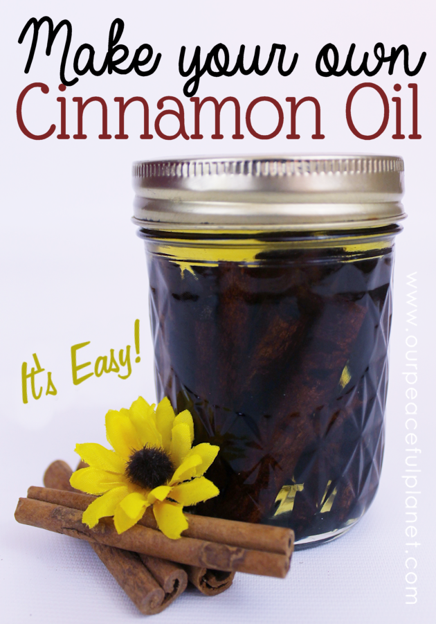 Cinnamon not only tastes and smells good it has many health benefits. We'll show you how to easily and cheaply make your own cinnamon oil. Free labels too!