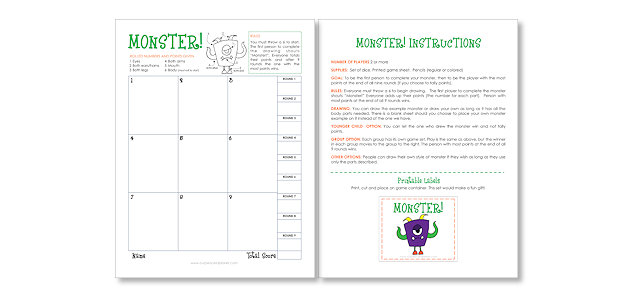 Monster! DIY Halloween Game 12