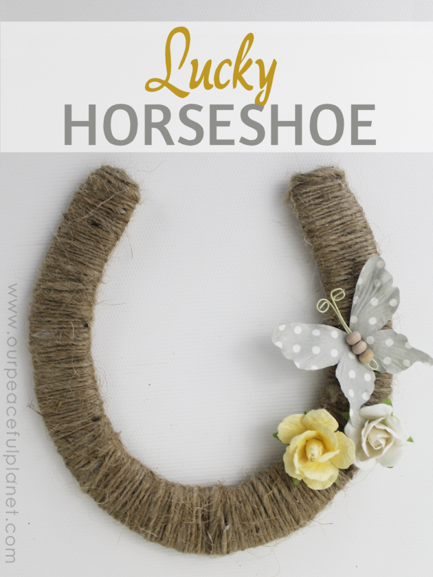 Invite good luck into your home by hanging a beautiful lucky horseshoe. Use a typical horseshoe or make one out of foam board with our pattern. It's easy!