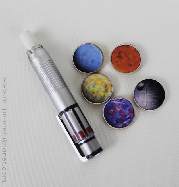 "Make a Star Wars Family Command Center! Use our free printable quote and planets for magnets. Then you too can say ""The Force is Strong in My Family""!"