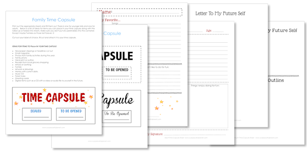 Make a Plastic Bottle Family Time Capsule Free Printables – Time Capsule Worksheet