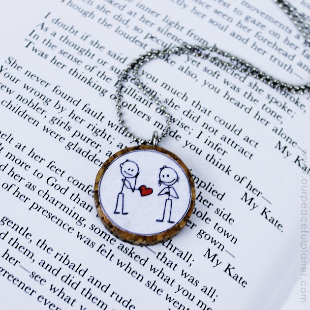 A beautiful little DIY necklace to give someone you love, made from a cork, our free printable and a hardware eyelet. So simple but so meaningful!