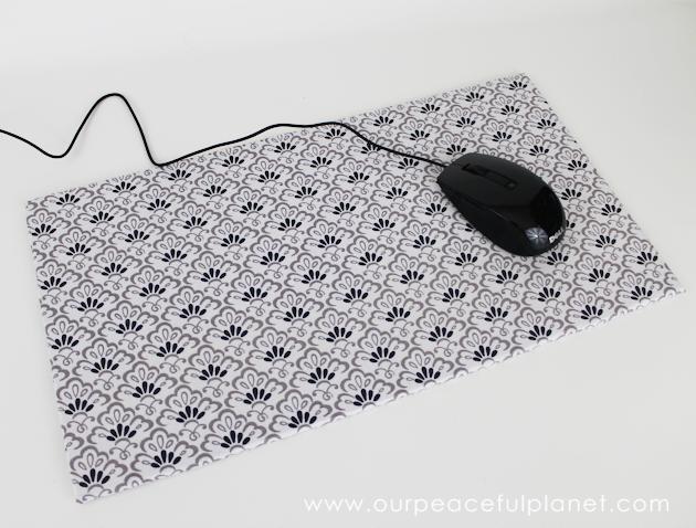 make your own large diy mouse pad. Black Bedroom Furniture Sets. Home Design Ideas